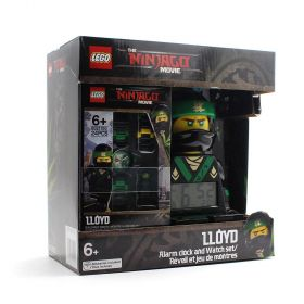 LEGO NINJAGO Movie Alarm Clock and Watch Set