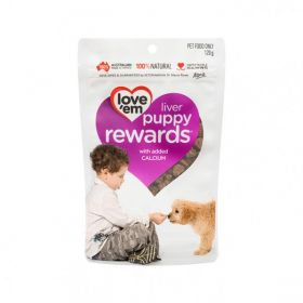 Love 'em Puppy Liver Rewards Treats For Dogs 120gm