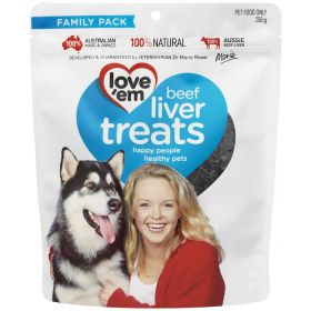 Love Em Beef Liver Treat 250 gm
