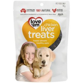 Love'em Chicken Liver Treats 90g
