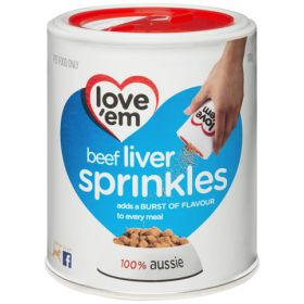 Love'em Liver Treats Sprinkles 100g