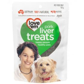 Love'em Pork Liver Treats For Dogs 100gm