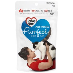 Love'em Purrfect Beef Liver Cat Treats 90g