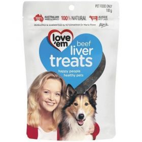 Love'em Beef Liver Treats For Dogs 100gm