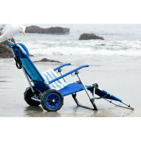 Mac Sports 2-in-1 Beach Day Lounger and Cargo Cart