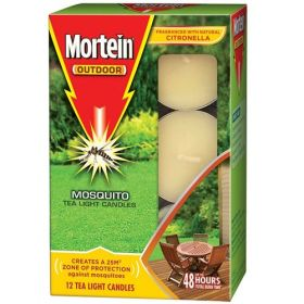 Mortein Citronella Tea Light Candles 12 pack