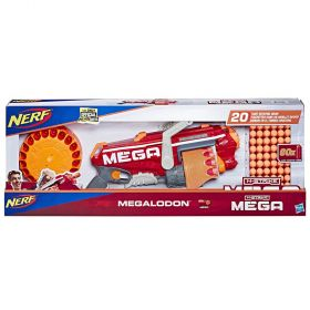 Nerf N-Strike Mega Megalodon Blaster With 60 Mega Official Whistling Darts