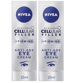 2 X Nivea Hyaluron Cellular Filler Firming Anti-Age Eye Cream 15ml