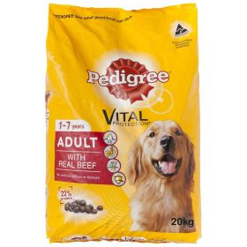 Pedigree Vital 1-7 year Adult Real Beef Dog Food 20KG