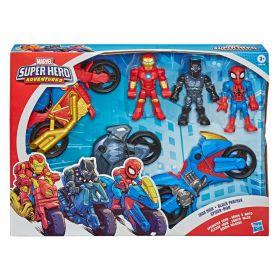 Playskool Heroes Marvel Super Hero Adventures Speedster Crew Figure 3-Pack