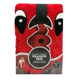 Plush And Playful Kids Dragon Tail Fleece Throw