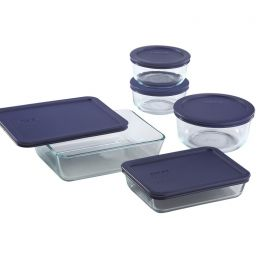 Pyrex 10 Piece Clear Glass Storage Set