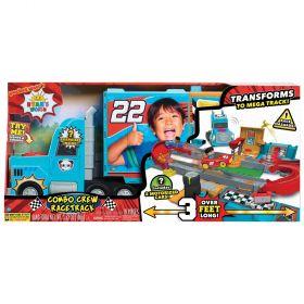 Ryan's World Combo Crew Racetrack Car Vehichle Playset, 19 Pieces