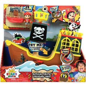 Ryan's World Musical Pirate Treasure Ship - 12pc