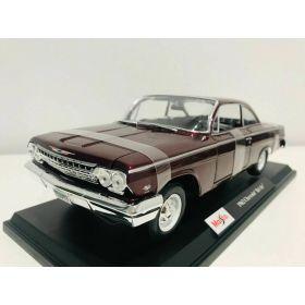 Maisto 1/18 Scale 1962 Chevrolet Bel Air Burgundy Model Car
