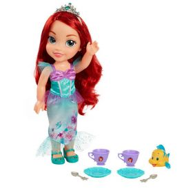 Disney Princess Little Mermaid Ariel Toddler Tea Time Doll and Flounder Figure