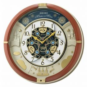 Seiko QXM291B 18-Melodies Melody in Motion Clock