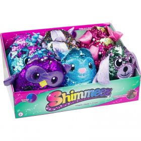 Shimmeez 8 Reversible Sequin Plush Animals Assorted