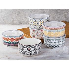 Signature Housewares 6 piece Stoneware Storage Bowls