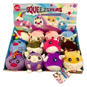 Squeezsters Squeezamals Clip on Plush 9cm