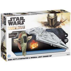 Star Wars Mandalorian Collector Model Kits Boba Fett's Starfighter & Imperial Light Cruiser Dual Pack Set