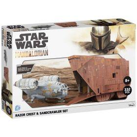 Star Wars Mandalorian Collector Model Kits Razor Crest and Sandcrawler Dual Pack