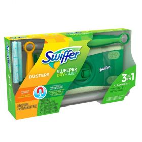 Swiffer Wet Dry Sweeper Duster 3 in 1 Cleaning Kit