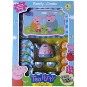 Peppa Pig Kitchen Tea Party 14 Piece Play Set