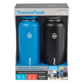 ThermoFlask 1.8L Stainless Steel Insulated Water Bottle, 2-pack