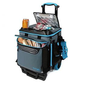 Titan Deep Freeze Collapsible Rolling Trolley Cooler Bag Cart Fits 50 cans/ice Picnic Lunchbox