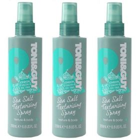 3 X Toni & Guy Sea Salt Texturising Spray Texture and Body 200ml
