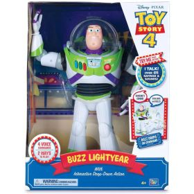 Toy Story 4 Disney Pixar Buzz Lightyear, with Interactive Drop-Down Action