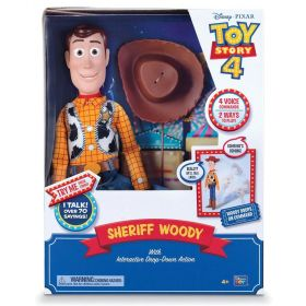 Toy Story 4 Disney Pixar Sheriff Woody, with Interactive Drop-Down Action