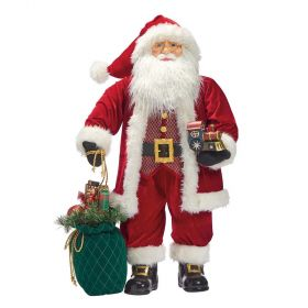 Traditional Standing Santa With Toy Bag 36 inch (91 cm)