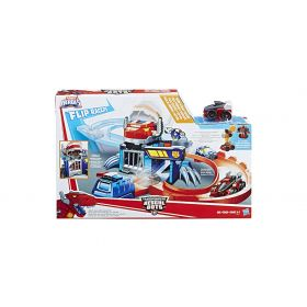 Transformers Rescue Bots Flip Racers Chase and Romp Raceway