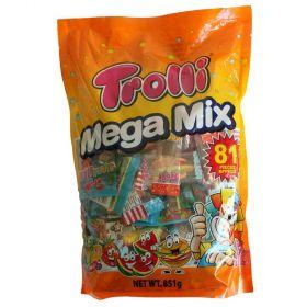 Trolli Mega Mix 81 Pieces Bag Candy Gummy Lollies