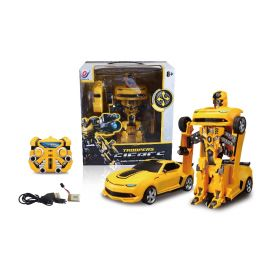 Transformers Troopers Fierce Robot Convertible Car Toy - Yellow R/C Remote Control