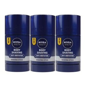 3 X Nivea Men Protect and Care Body Shaving Stick 75ml