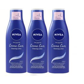 3 X NIVEA Daily Essentials Creme Care Cleansing Lotion 200ml