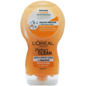 Loreal Perfect Clean Gentle Apricot Scrub With Cleanpod Exfoliating 150mL