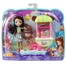 Enchantimals Dessert Cart Bren Bear & Snore Playset