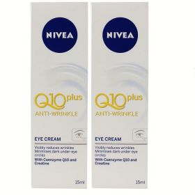 2 X NIVEA 15mL Q10 PLUS EYE CREAM ANTI-WRINKLE