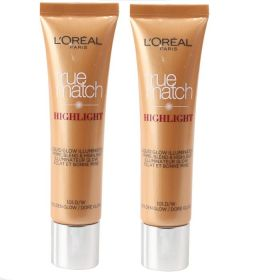 2 X Loreal Paris True Match Highlighter Liquid Glow 30ml