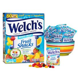 Welch's Fruit Snacks Mixed Fruit 80 pouches