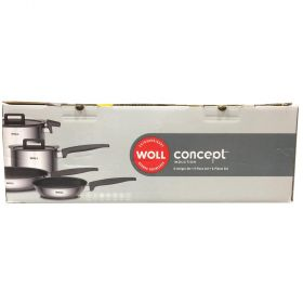 Woll Concept Induction Stainless Steel 6 Piece Cookware Set