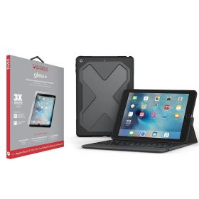 ZAGG Rugged Messenger Keyboard Case with Detachable Case & Glass for iPad 9.7 inch