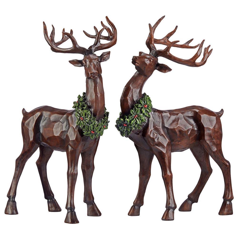Christmas Reindeer.Tabletop Decorative Christmas Reindeer Set Of 2